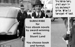 SUBSCRIBE to newsletter & receive free Stuart Land ebook novel of your choice.ลงชื่อเพื่อรับจดมายข่าวและรับหนังสือนิยายออนไลน์ตามความชอบของคุณ จากคุณสจ๊วต แลนด์ อ่านเพิ่มเติม